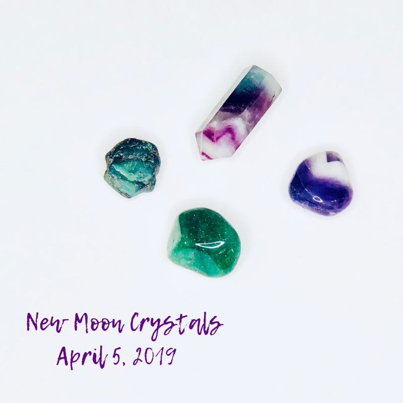 four crystals for the april new moon in aries