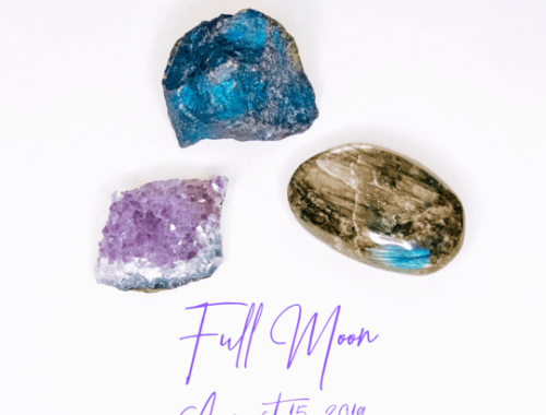 August Full Moon crystals
