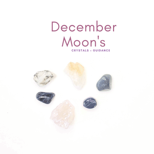 december crystal and moons