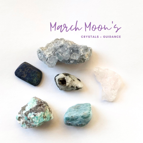 March New and Full Moons and Crystal Guidance Jenny Shanks