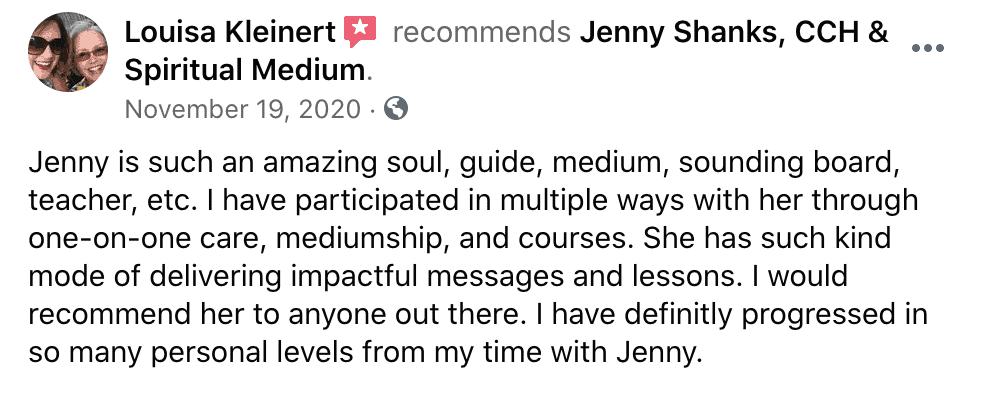 Jenny Shanks Client Loves