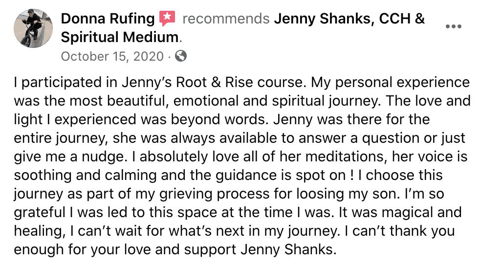 Jenny Shanks Testimonials