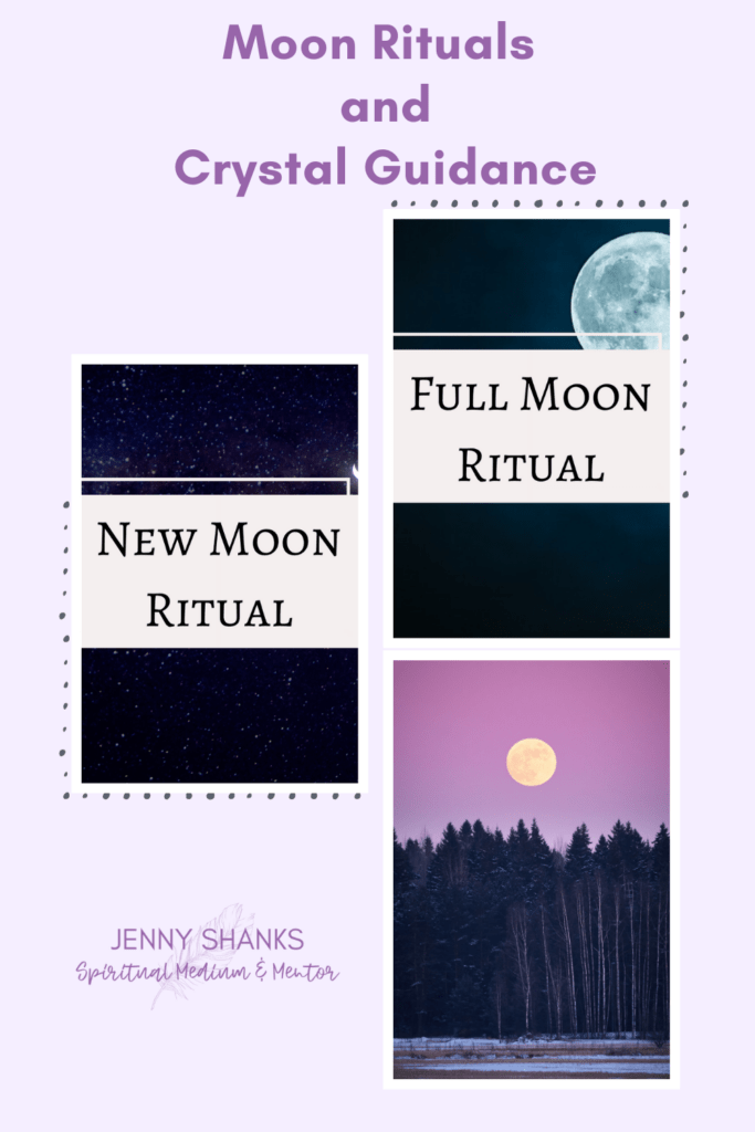 Moon rituals and crystal guidance