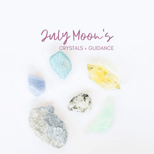 July new and Full Moons Crystal Guidance Jenny Shanks
