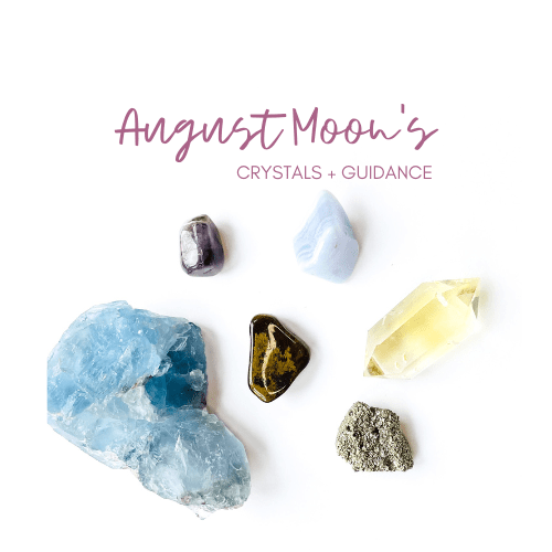 August New and Full Moon Crystal Guidance Jenny Shanks
